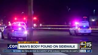 Man found shot to death at Phoenix roadway - Video