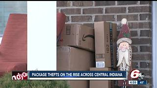 Package thefts on the rise across central Indiana - Video