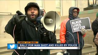 Residents rally for Racine man shot by police - Video