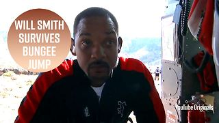 Will Smith quietly freaks out before bungee jumping