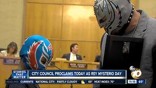 Wrestler Rey Mysterio honored by San Diego City Council