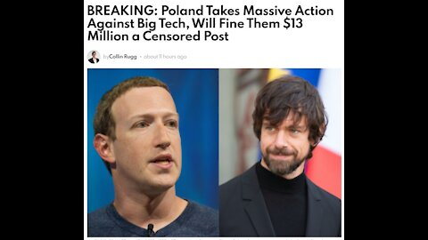 Poland Takes Massive Action Against Big Tech, Will Fine Them $13 Million a Censored Post