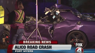 Three injured after crashing into semi truck in Fort Myers - Video