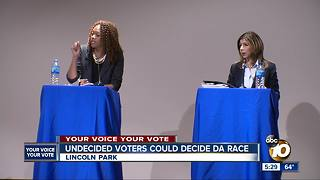 Undecided voters cound decide DA race