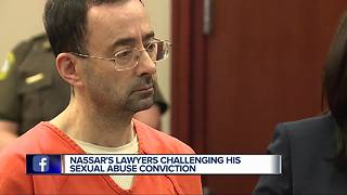 Larry Nassar files appeal to retry case in Ingham County; Claims prison abuse - Video