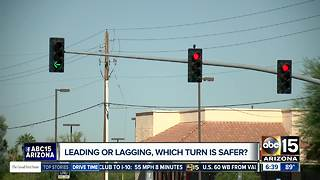 Traffic signals changing in Gilbert - Video
