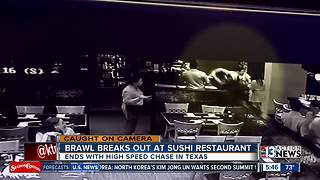 Brawl breaks out at sushi restaurant