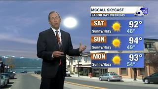 Boise Labor Day Weekend Weather Heats Up - Video