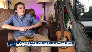 Local childhood cancer survivor to ride Rose Bowl Parade float - Video