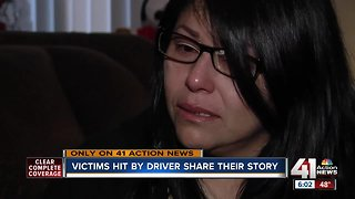 Victims hit by driver share their story