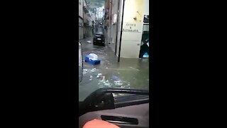 Extreme flooding in Southern Italian town