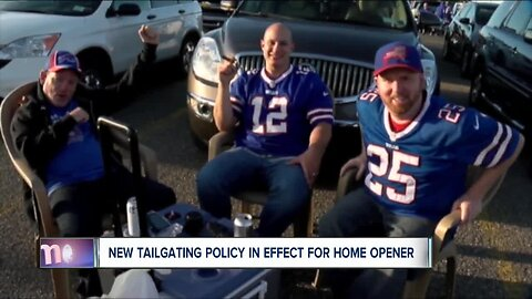 New tailgating policy in effect for Bills home opener