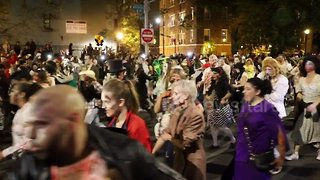 Costumed New Yorkers march in 45th annual Village Halloween Parade