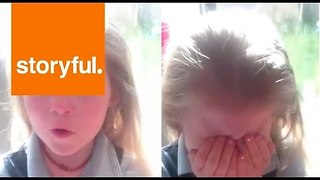 Little Girl Is Torn Over Her Rugby Allegiances - Video
