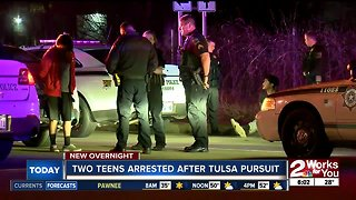 Two teens arrested after TPD pursuit
