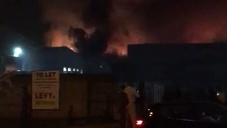 Large Blaze Tears Through Tottenham Warehouse