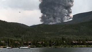 Helicopter Drops Water as Wildfire Near Breckenridge Sparks Evacuations - Video