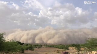 Cell phone footage captures enormous sandstorm