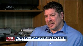 Racine motor company seeking workers