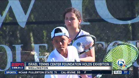Israel Tennis Center Foundation holds exhibition match in Wellington
