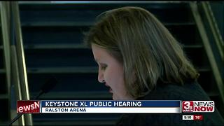 Keystone XL hearing at Ralston Arena - Video