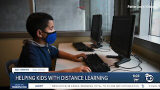 Father Joe's Villages helps students with distance learning