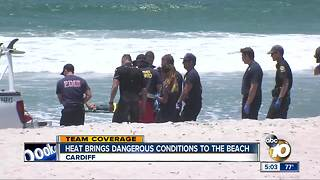 Dangerous conditions at San Diego beaches