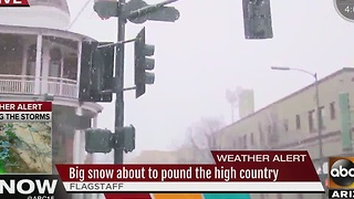 Flagstaff area preparing for snow storm expected to hit the area Thursday night - Video