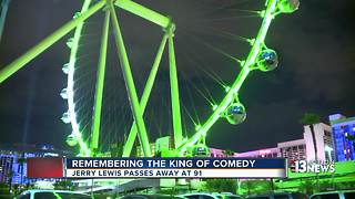 Las Vegas High Roller turns green for Jerry Lewis - Video