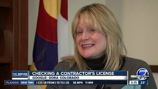 Checking a contractor's license - Video