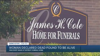 Woman pronounced dead found alive at Detroit funeral home