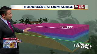 Greg Dee talks about storm surges in Tampa Bay - Video