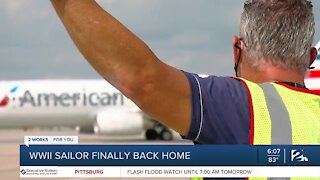 Pearl Harbor victim's remains flown home