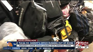 Tulsa County Sheriff's property room overflowing