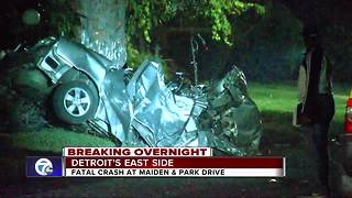 Police investigate deadly crash on Detroit's east side - Video