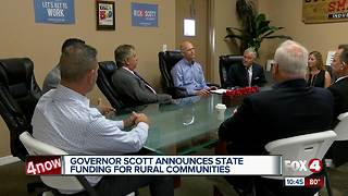 Governor Rick Scott approves funding for rural communities - Video