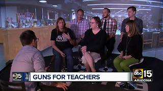 Arizona teachers weigh in on arming teachers - Video