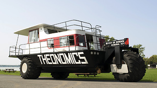 Amphibious Houseboat Hits The Road | Ridiculous Rides - Video