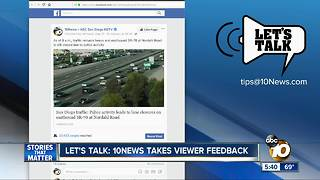 Let's Talk: 10News Viewer Feedback - Video