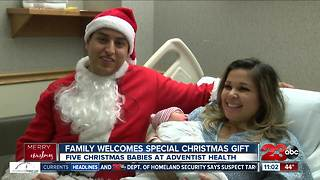 Five Christmas babies born at Adventist Health - Video