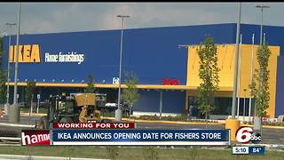 IKEA announces opening date for Fishers store - Video