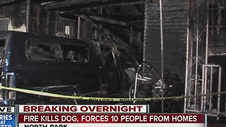 Early morning North Park fire leaves displaces 10 people - Video