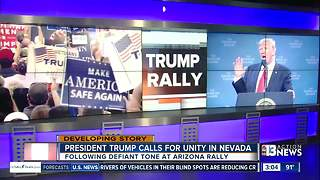 President Trump appears in Reno