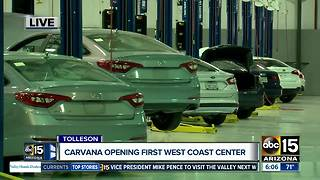 Carvana opening first West Coast center - Video