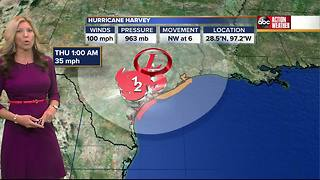 Hurricane Harvey Forecast with Shay Ryan on Saturday, August 26, 2017 (6AM) - Video