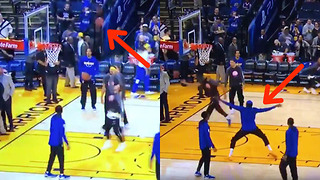 Kevin Durant Does a CRAB DANCE After Steph Curry's Sky High Teardrop Layup - Video
