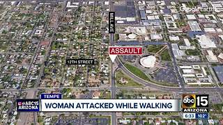 Tempe police searching for man who attacked woman near Gammage - Video