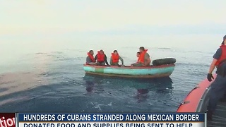 Cuban immigrants facing humanitarian crisis near U.S. border, Tampa helping out - Video