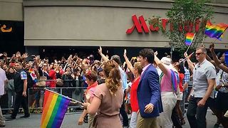 Justin Trudeau Marches in Toronto Pride Parade - Video