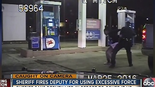 Pinellas deputy fired for excessive force - Video